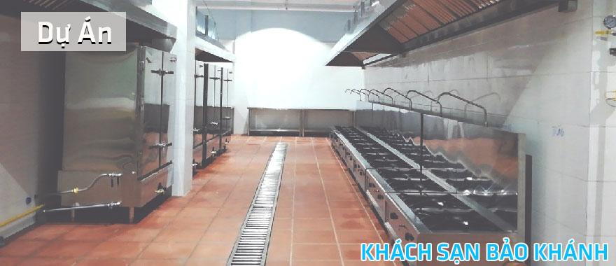 Dự án lắp đặt hệ thống bếp công nghiệp tại khách sạn Bảo Khánh