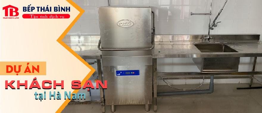 Lắp đặt và vận hành máy rửa bát cho khách sạn tại Hà Nam